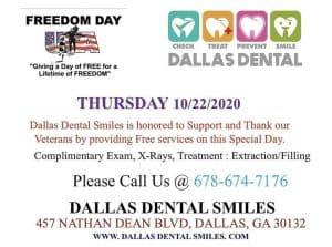 FRREDOM DAY EVENT AT DALLAS DENTAL SMILES DALLAS GA.